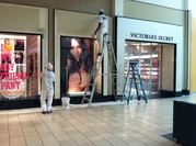 our team of painters completing work on the interior of a mall